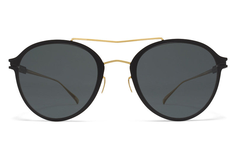 MYKITA Sunglasses - Odell Gold/Black with MY+ Black Polarized Lenses