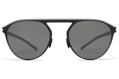 MYKITA - Paulin Sunglasses Black/White with Mirror Black Lenses