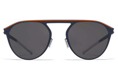 MYKITA - Paulin Sunglasses Indigo/Orange with Dark Grey Solid Lenses