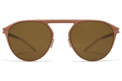 MYKITA - Paulin Sunglasses Shiny Copper/Camou Green with Raw Brown Solid Lenses