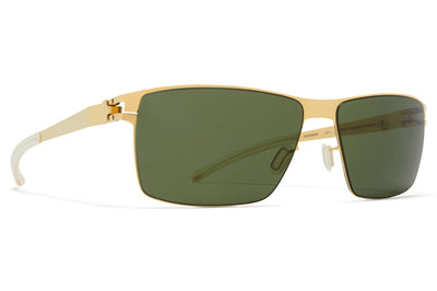 MYKITA - Pierce Sunglasses Glossy Gold with MY+ Fern Polarized Lenses