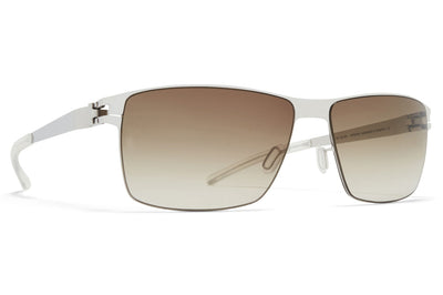 MYKITA - Pierce Sunglasses Shiny Silver with Olive Gradient Lenses