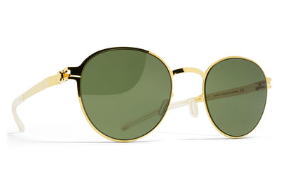MYKITA Sunglasses - Randolph Glossy Gold with MY+ Fern Polarized Lenses