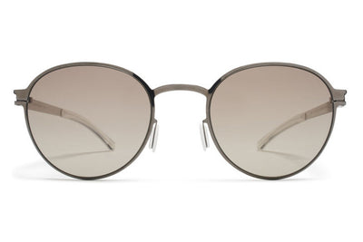 MYKITA Sunglasses - Randolph Shiny Graphite with Green Grad Black Photochromic Polarized Lenses