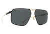 MYKITA Sunglasses - Satch Gold/Black with MY+ Black Polarized Lenses
