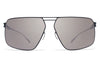 MYKITA Sunglasses - Satch Shiny Graphite/Indigo with Dark Purple Flash Lenses