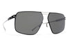 MYKITA Sunglasses - Satch Silver/Black with Mirror Black Lenses