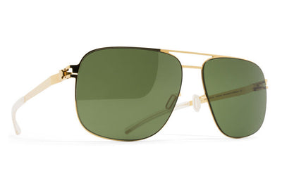 MYKITA Sunglasses - Wes Glossy Gold with MY+ Fern Polarized Lenses