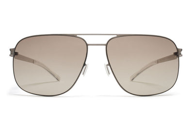 MYKITA Sunglasses - Wes Shiny Graphite with Green Grad Black Photochromic Polarized Lenses