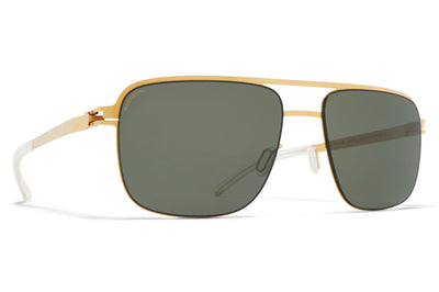 MYKITA - Wilder Sunglasses Frosted Gold with Polarized Pro Green 15 Lenses