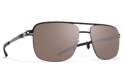 MYKITA - Wilder Sunglasses Jet Black with Polarized Pro Hi-Con Brown Silver Flash Lenses