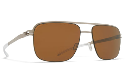 MYKITA - Wilder Sunglasses Matte Silver with Polarized Pro Amber Brown Lenses