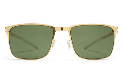MYKITA Sunglasses - Yanir Glossy Gold with MY+ Fern Polarized Lenses