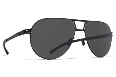 MYKITA - Zane Sunglasses Black with Dark Grey Solid Lenses