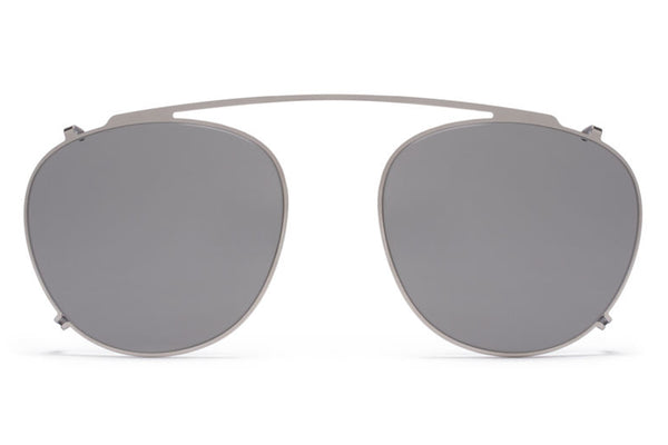 MYKITA Sunglasses - Geoffrey | Clip On Shades Shiny Silver with Grey Solid Lenses
