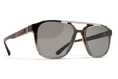 MYKITA Sunglasses - Kendrick Shiny Silver with Grey Solid Lenses