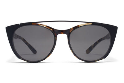 MYKITA Sunglasses - Teresa | Clip On Shades Black with Dark Grey Solid Lenses