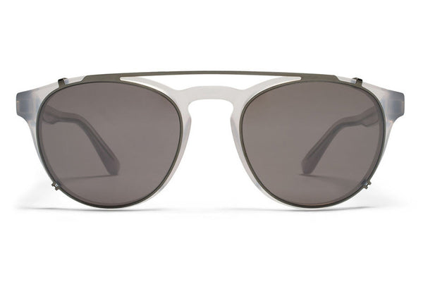MYKITA Sunglasses - Geoffrey | Clip On Shades Black with Dark Grey Solid Lenses