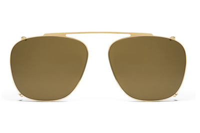 MYKITA Sunglasses - Kendrick Glossy Gold with Raw Brown Solid Lenses