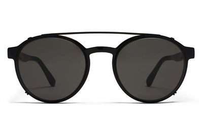 MYKITA Sunglasses - Percy | Clip On Shades Black with Dark Grey Solid Lenses