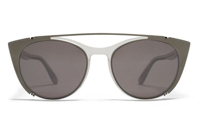 MYKITA Sunglasses - Teresa | Clip On Shades Shiny Graphite with Dark Purple Flash Lenses