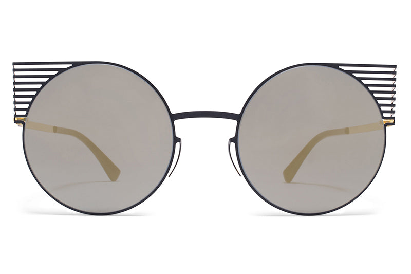 MYKITA STUDIO - Studio 1.1 Sunglasses S1 Indigo/Gold with Brilliant Blue Solid Lenses