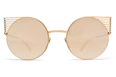 MYKITA STUDIO - Studio 1.1 Sunglasses S12 Champagne Gold/Ebony Brown with Champagne Gold Lenses