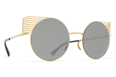 MYKITA STUDIO - Studio 1.1 Sunglasses S4 Gold with Mirror Black Lenses