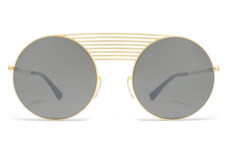 MYKITA STUDIO - Studio 1.2 Sunglasses S4 Gold with Mirror Black Lenses