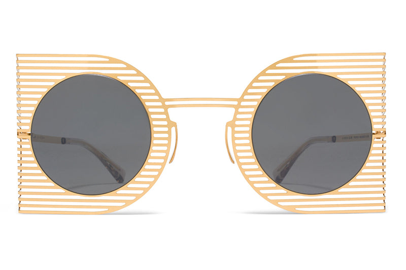 MYKITA STUDIO - Studio 1.3 Sunglasses S4 Gold with Mirror Black Lenses