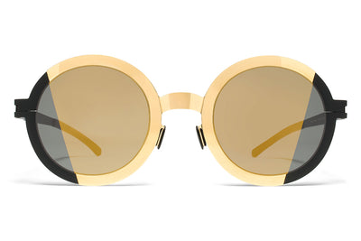 MYKITA STUDIO - Studio 2.1 Sunglasses Gold/Black with Pamir 2 Gold Lenses