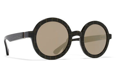 MYKITA STUDIO - Studio 3.1 Black/Gold Square with Brilliant Grey Solid Lenses