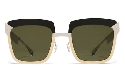 MYKITA STUDIO - Studio 4.2 Sunglasses S6 Light Desert Mod with Raw Green Solid Lenses