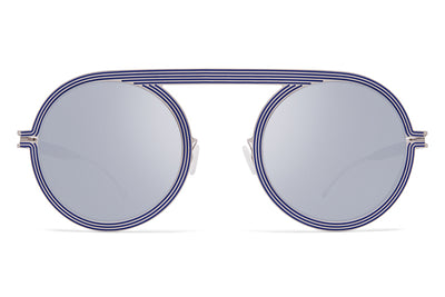 MYKITA STUDIO - Studio 6.1 Shiny Silver/Blue with Silver Flash Lenses
