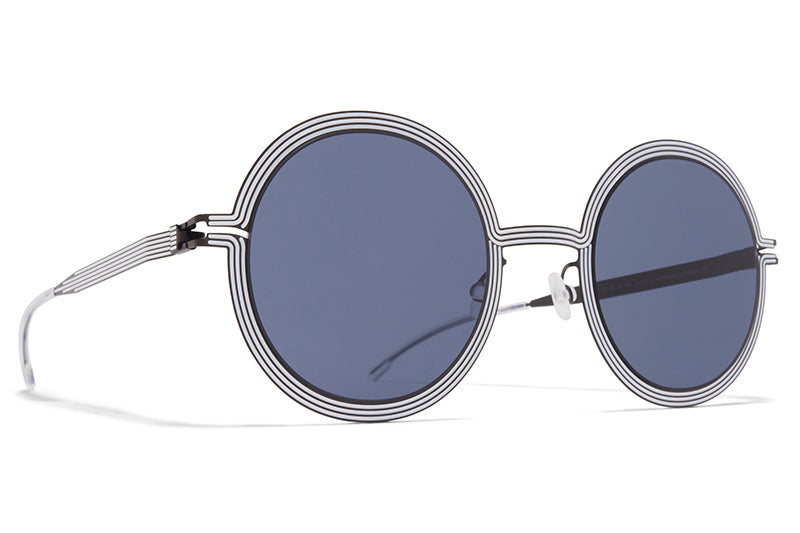 MYKITA STUDIO - Studio 6.3 Shiny Black/White with Dark Grey Solid Lenses
