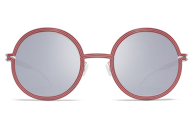 MYKITA STUDIO - Studio 6.3 Silver/Pomegranate with Silver Flash Lenses