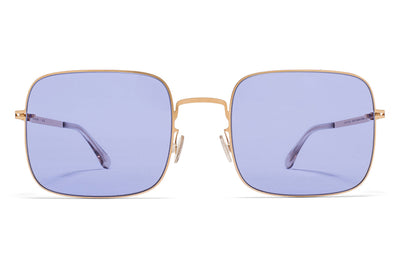 MYKITA STUDIO - Studio 7.1 Sunglasses Champagne Gold with Jelly Purple Solid Lenses