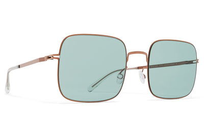Shiny Copper with Jelly Green Solid Lenses
