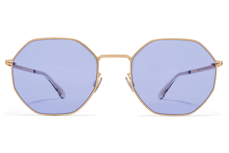 MYKITA STUDIO - Studio 7.2 Sunglasses Champagne Gold with Jelly Purple Solid Lenses