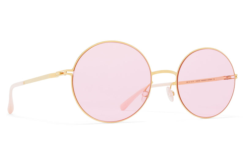 MYKITA STUDIO - Studio 7.1 Sunglasses Glossy Gold with Jelly Pink Solid Lenses