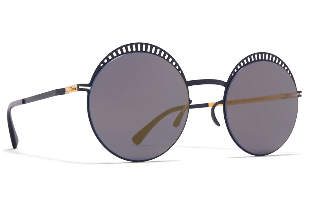MYKITA - Studio 1.4 Sunglasses Sunglasses S1 Indigo/Gold with Brilliant Blue Solid Lenses