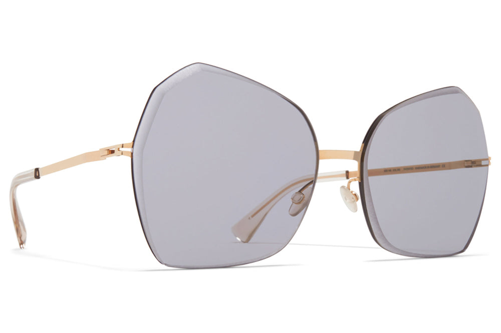 MYKITA - Studio 10.1 Sunglasses Champagne Gold/Black with Grey Facette Lenses