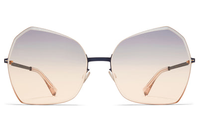 MYKITA - Studio 10.1 Sunglasses Gold/Indigo with Grey/Orange Facette Lenses