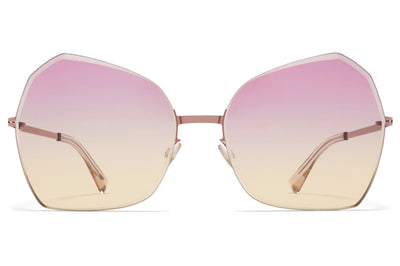 MYKITA - Studio 10.1 Sunglasses Purple Bronze with Pink/Yellow Facette Lenses