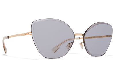 MYKITA - Studio 10.2 Sunglasses Champagne Gold/Black with Grey Facette Lenses