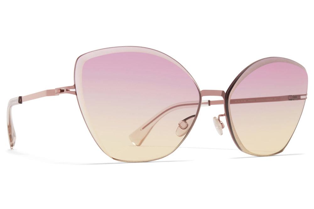 MYKITA - Studio 10.2 Sunglasses Purple Bronze with Pink/Yellow Facette Lenses