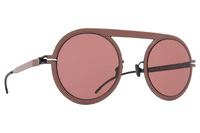 MYKITA STUDIO - Studio 6.1 Sunglasses Shiny Black/Pink Clay with Purple Solid Lenses