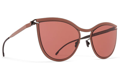 MYKITA STUDIO - Studio 6.2 Sunglasses Shiny Black/Pink Clay with Purple Solid Lenses