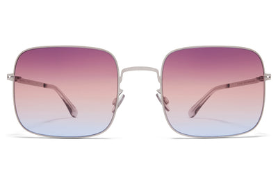 MYKITA - Studio 7.1 Sunglasses Shiny Silver with Triple Purple/Orange/Blue Gradient Lenses