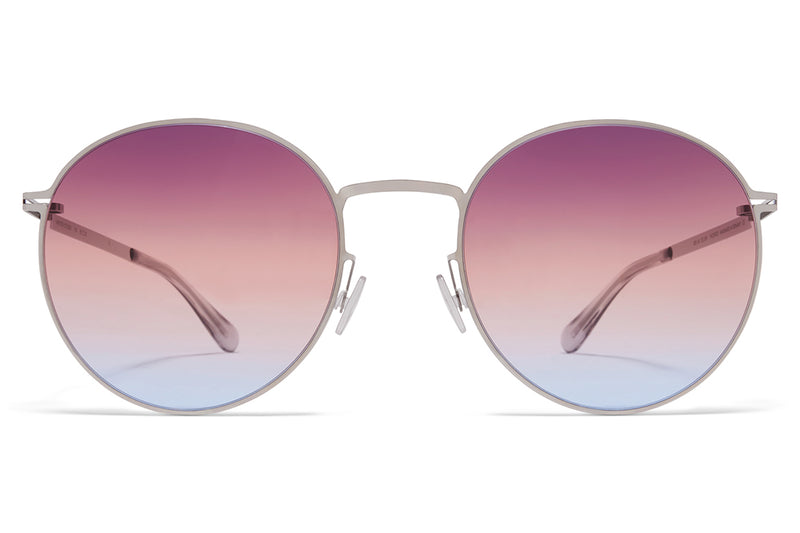 MYKITA - Studio 7.4 Sunglasses Shiny Silver with Triple Purple/Orange/Blue Gradient Lenses